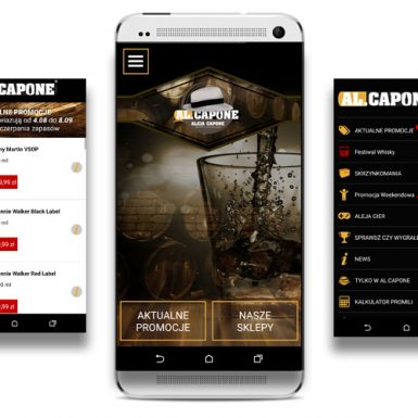 Aplikacja mobilna dla Al.Capone Tarnów