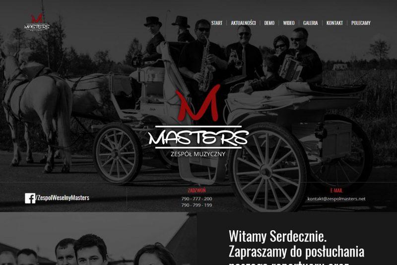 Strona internetowa zespołu weselnego Masters