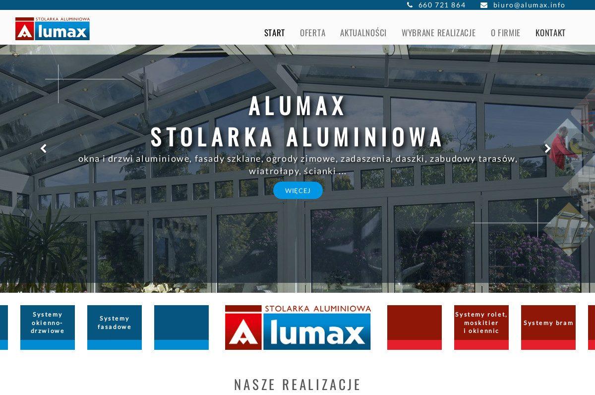 ALUMAX Śmigno Stolarka Aluminiowa – realizacja strony internetowej