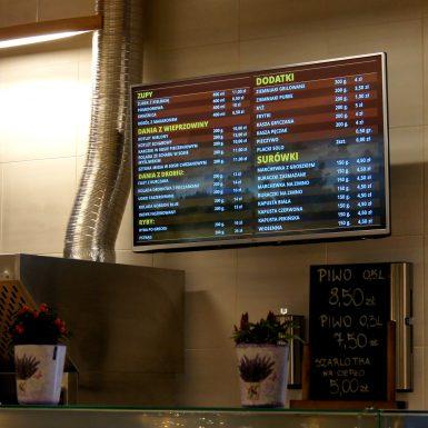 Monitory restauracyjne w Galerii Serenada Kraków