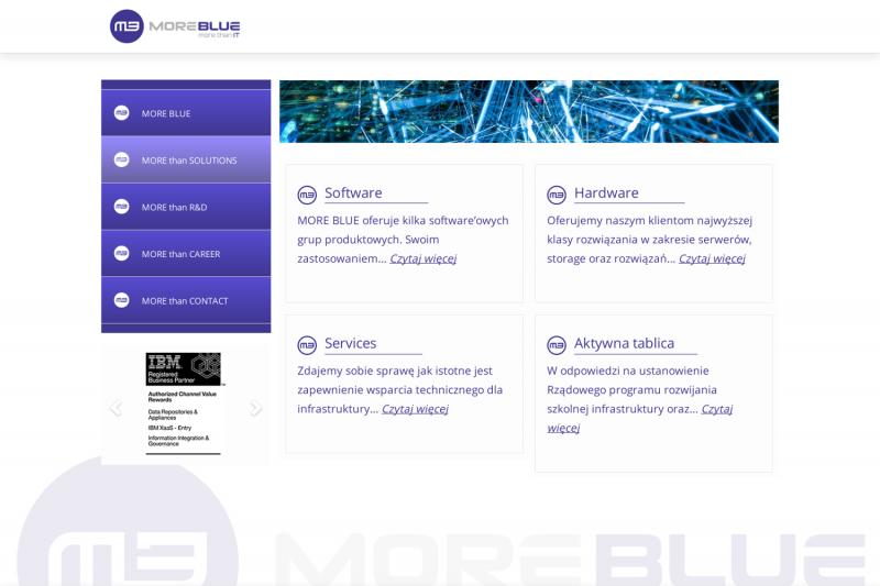 Najnowsza realizacja strony internetowej More Blue
